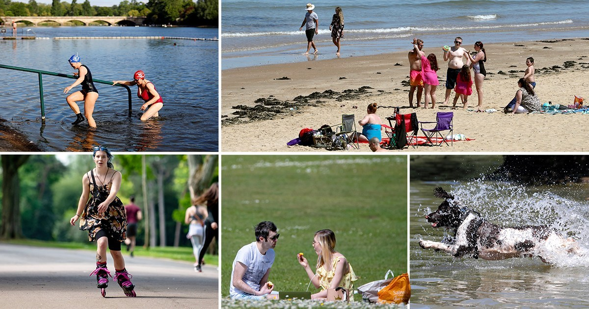 UK temperatures hit 10C above average tomorrow on hottest day of week