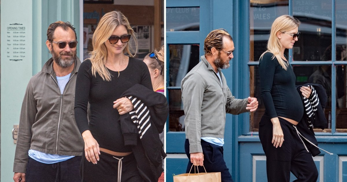 Jude Law 'expecting sixth child' as pregnant wife Phillipa Coan emerges with baby bump