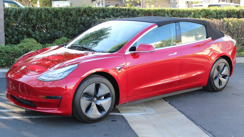 Tesla Model 3 loses its glass roof in convertible conversion you can buy