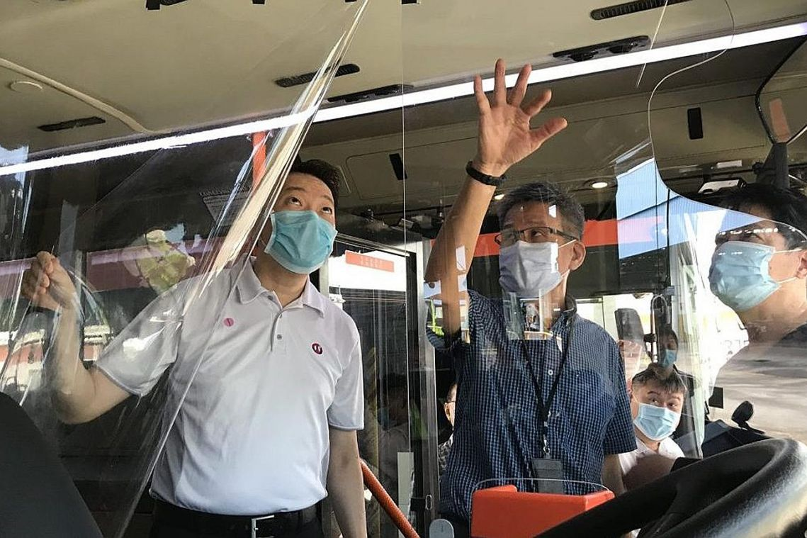 Transparent shields for bus drivers under consideration