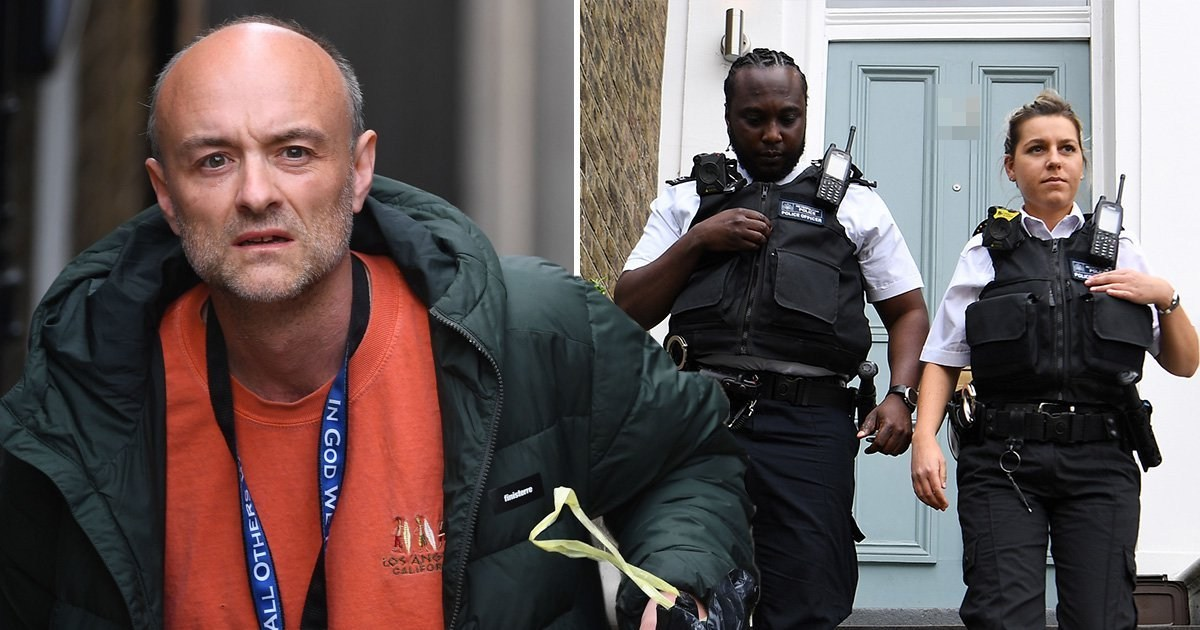Police show up on Cummings' doorstep but nobody is home