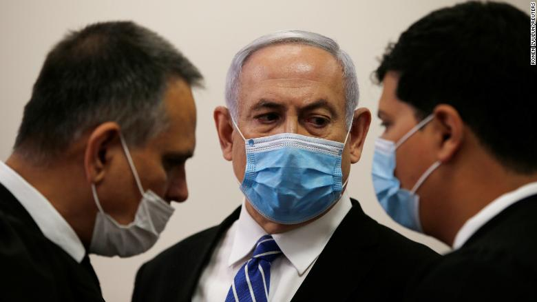 Netanyahu defiant as he arrives for start of trial