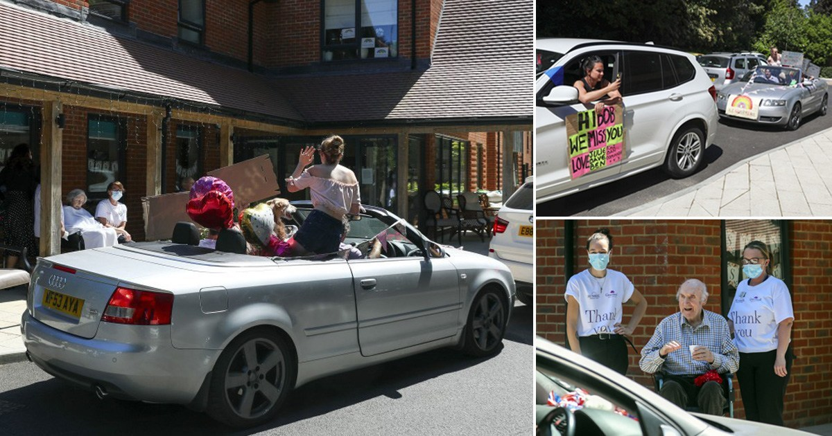 Care home sets up drive-through for families to see residents in lockdown