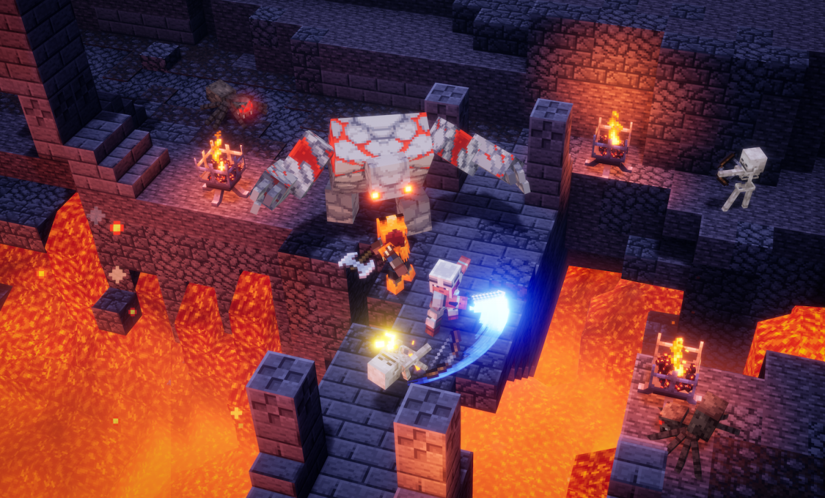 A new 'Minecraft' game is out today, and it shakes up the iconic series with a bold new hack-and-slash style of gameplay you can play with a friend