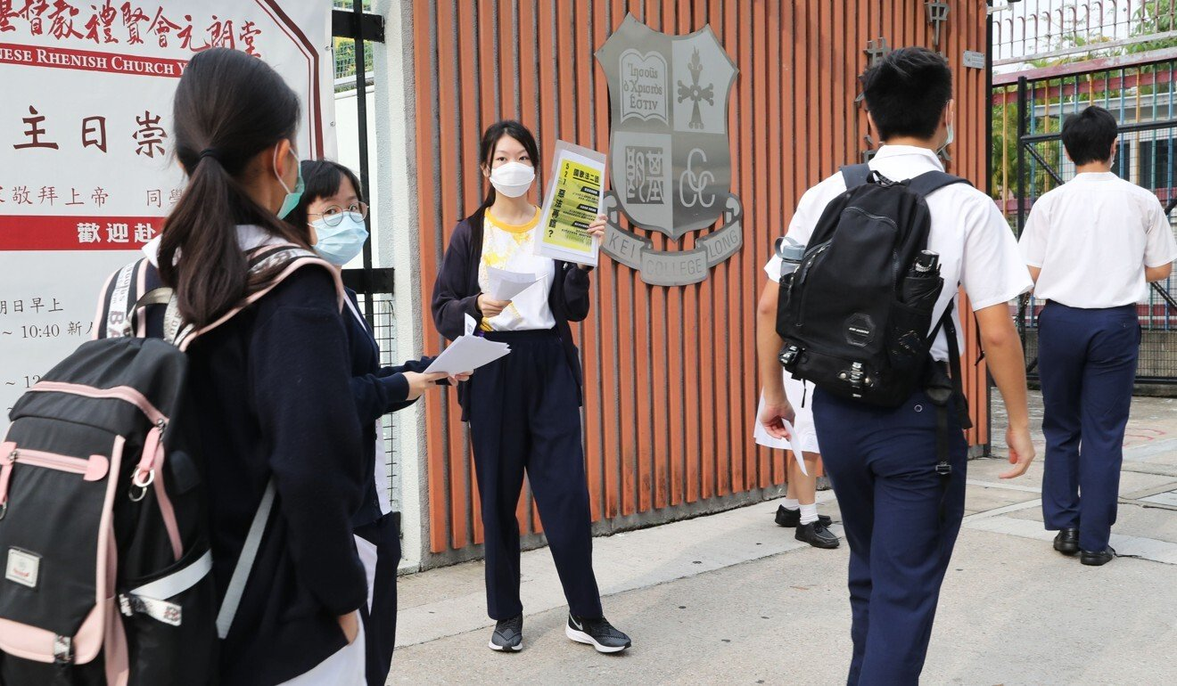 Hong Kong pupils return to class with protests and coronavirus on their minds