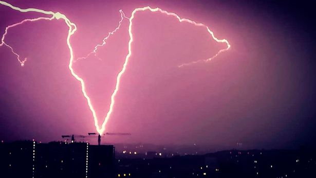 Huge Russian cargo plane carrying PPE hit by bolt of lightning during thunderstorm