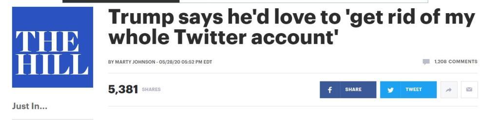 被问真的想关闭推特公司?特朗普:如果我们不再使用推特,将会重创它!