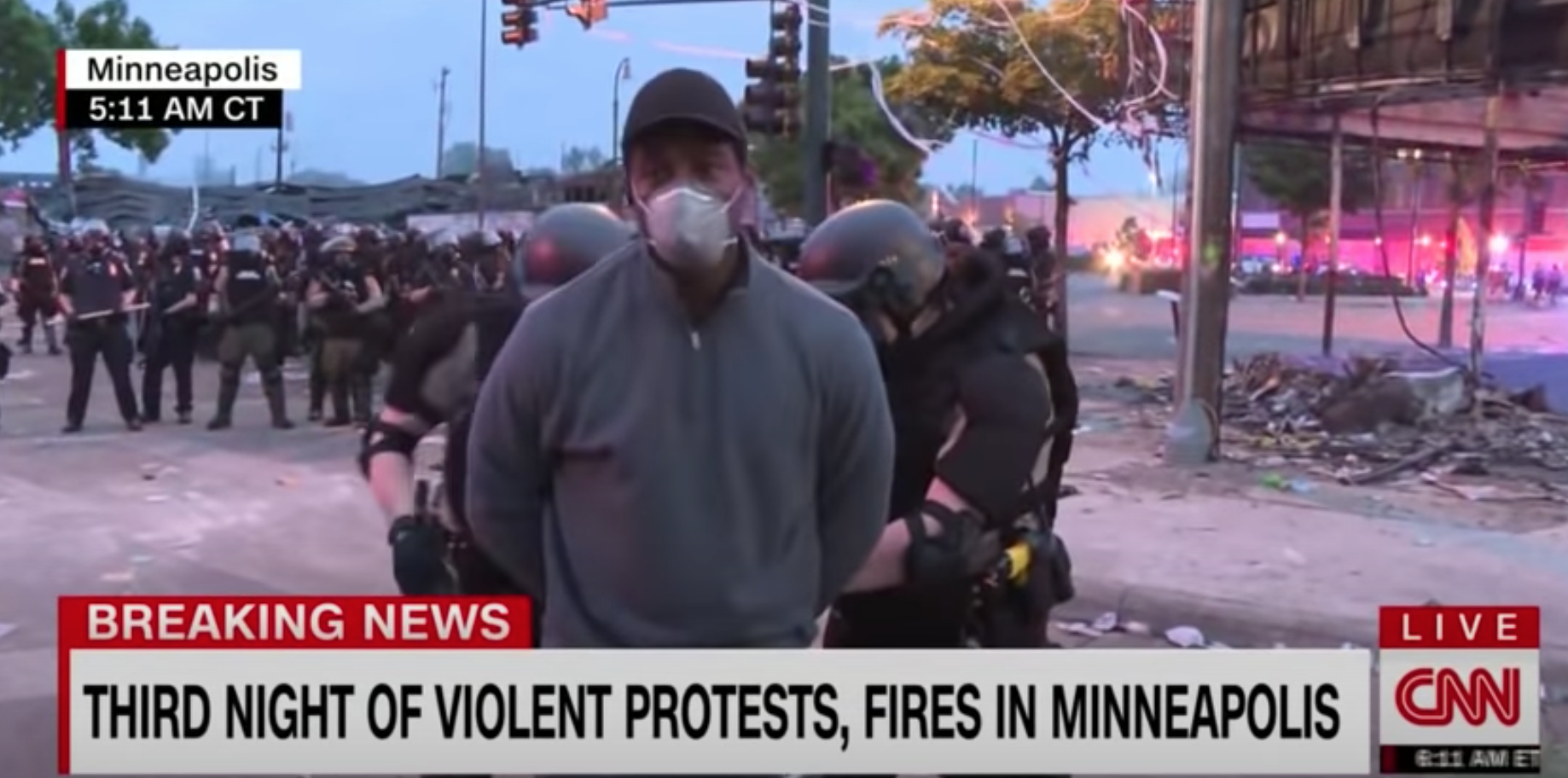 CNN Correspondent Omar Jimenez Arrested During Live Report on Minneapolis Protests