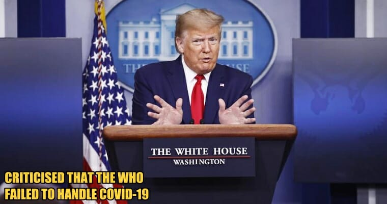 Trump CUTS TIES Between America and WHO