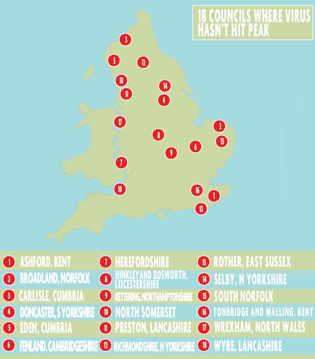 The 18 UK councils that haven't reached their coronavirus peak - is yours on the list?