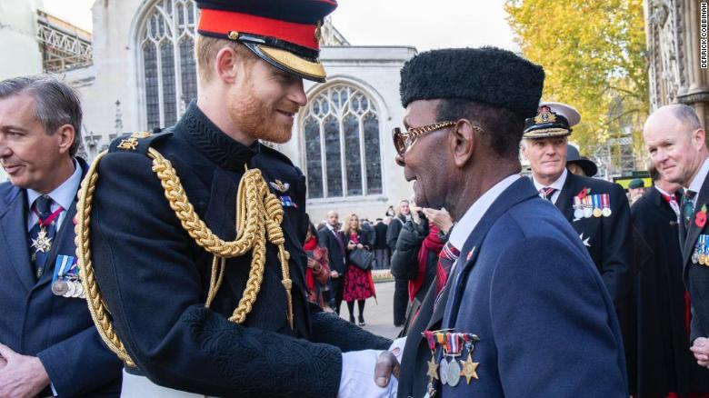'You brought a huge smile to my face,' Prince Harry tells 95-year-old who walked for charity