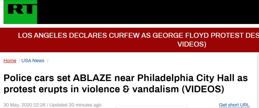 示威活动仍在蔓延!费城警车着火,商店遭洗劫