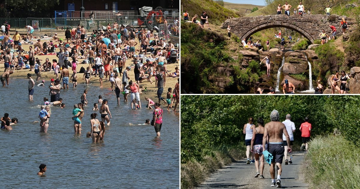 Brits flock to the beaches and parks as temperatures hit 25C