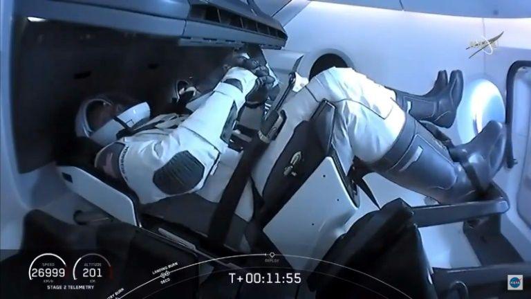Spacex crew dragon docks with international space station ia/jm