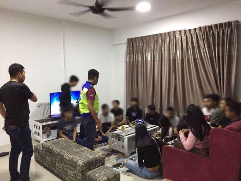 18 youths detained in Ipoh house party
