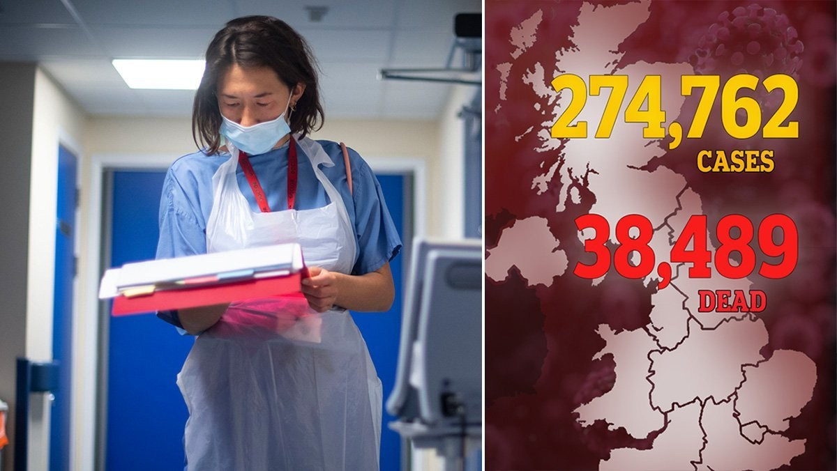 UK death toll rises to 38,489 after further 113 die