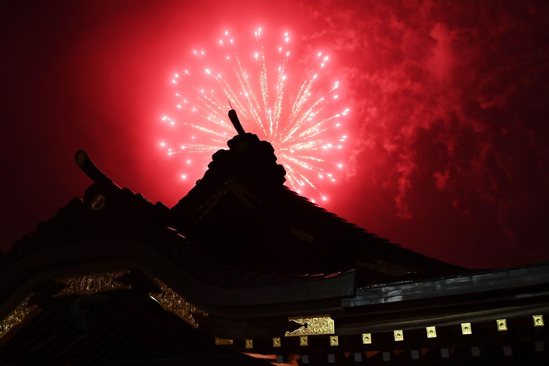 Japan skies lit up to brighten mood