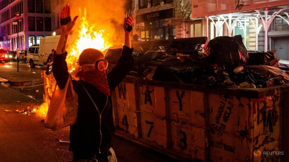 Trump urges crackdown on violence as US cities brace for more protests
