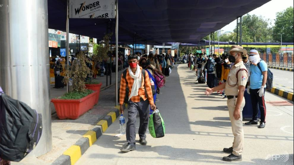 Long queues as Indian train services resume