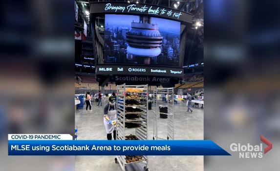 加拿大蓝鸟队主场改为临时食品库!储存450万公斤食物