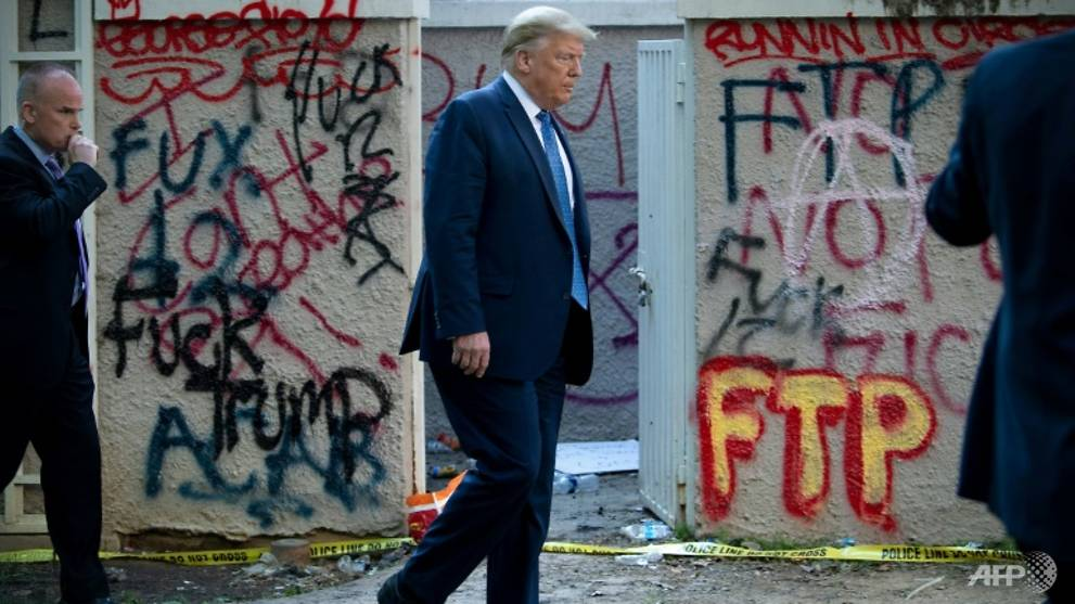 Trump denies sheltering in White House bunker