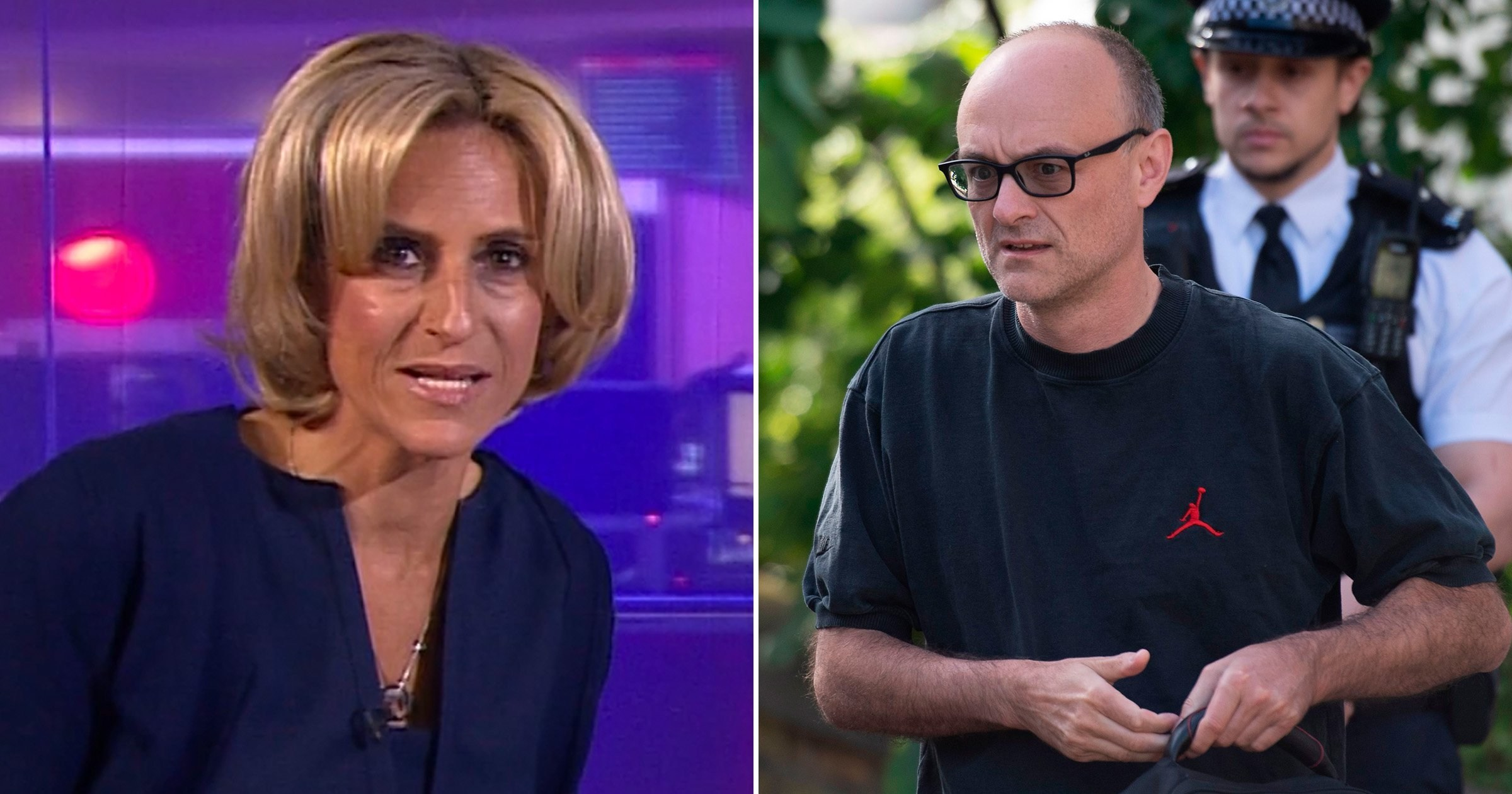 Emily Maitlis ignores BBC bias backlash as she returns to Newsnight for first time since Dominic Cummings monologue