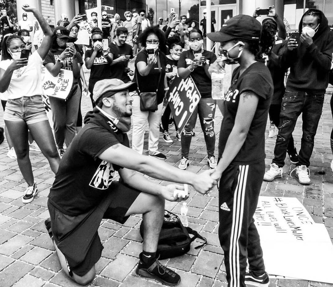 Couple Gets Engaged During Moving Black Lives Matter Protest Moment