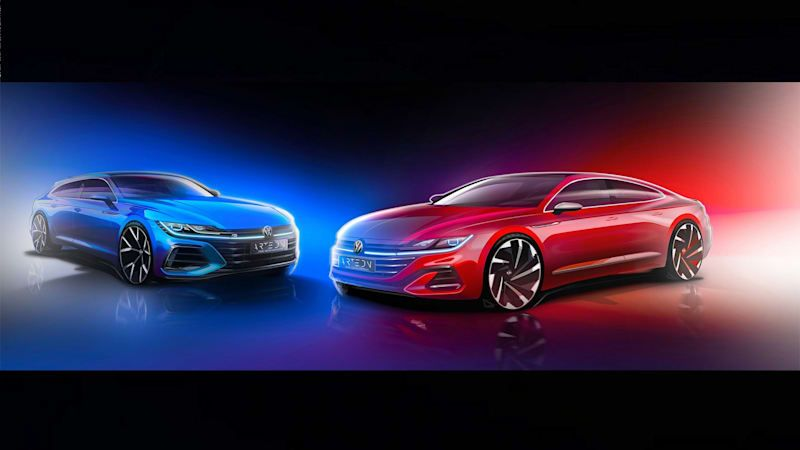 VW tantalizes us with a sketch of an R-badged Arteon Shooting Brake