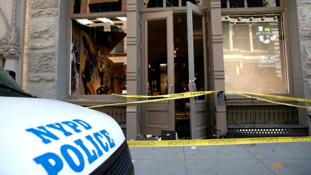 Two New York police shot and wounded, one knifed, while on duty to stop looting