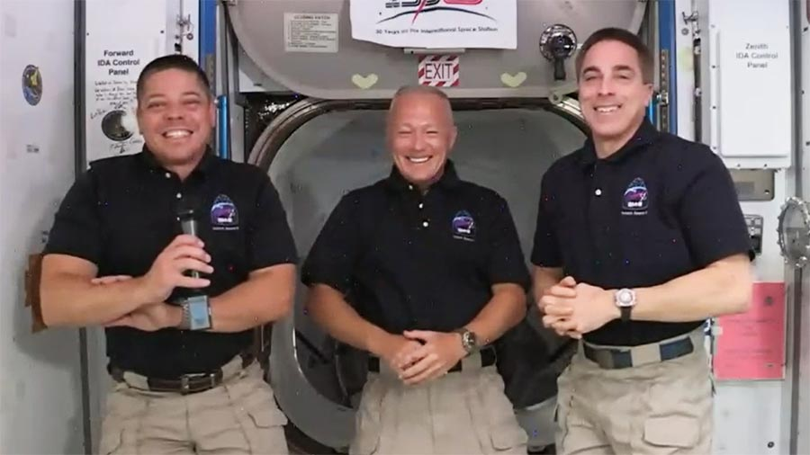 NASA SpaceX Crew Dragon Astronauts Get Used to Space Station