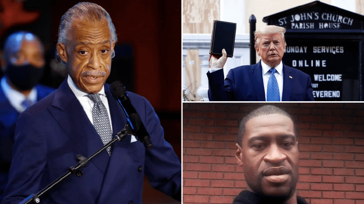 Reverend Al Sharpton hits out of Trump for using George Floyd 'as a prop' during his memorial