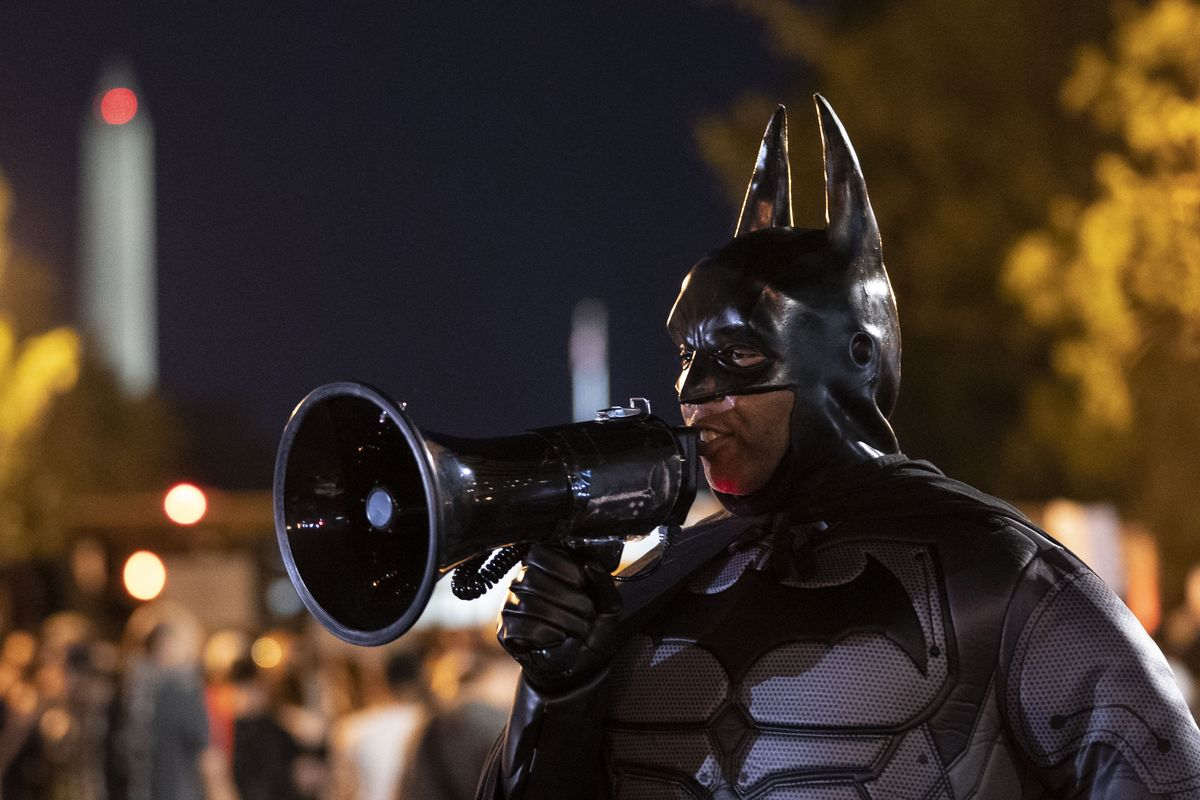 Superhero iconography is popping up on both sides of America's Black Lives Matter protests