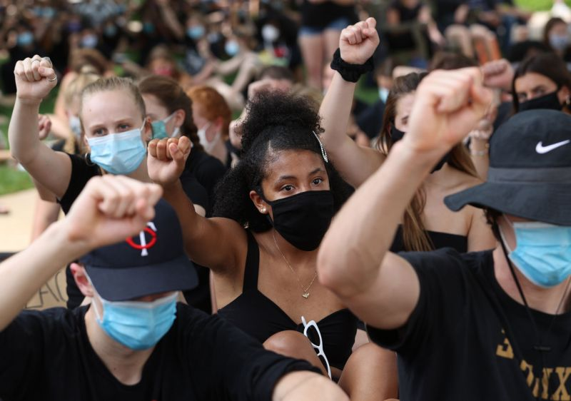 Federal agents release coronavirus masks seized from black lives matter protesters