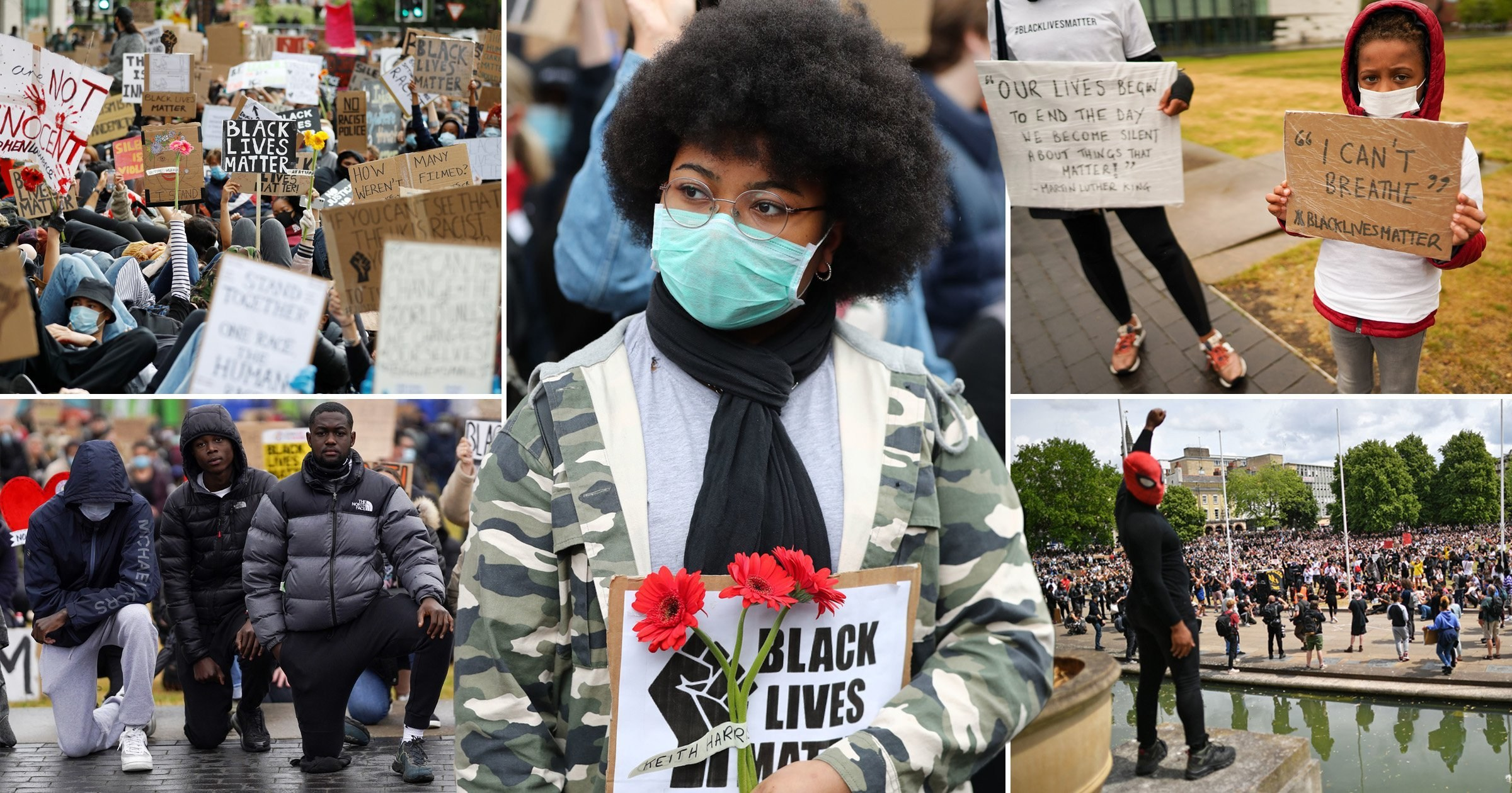 Thousands take to UK streets calling for an end to racism