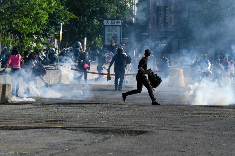 加拿大抗议持续:警方发射催泪弹 至少1名示威者被捕