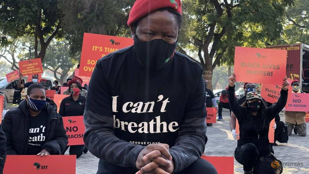 South African opposition leads Black Lives Matter protests outside US missions