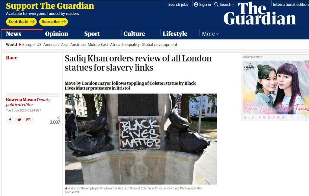 伦敦市长下令审查该市地标性建筑,可能移除部分雕像