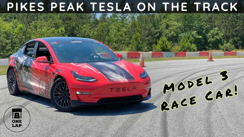Tesla Model 3 Performance Pikes Peak racer sets record in one lap