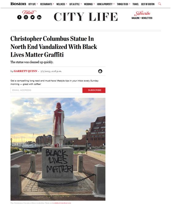 反种族主义!美国民众发起拆除雕像请愿,目标:哥伦布!