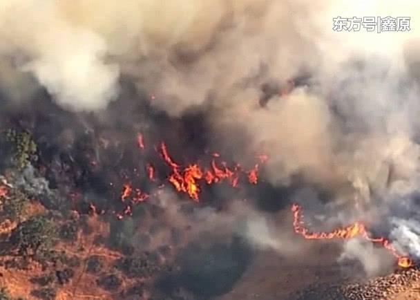 加州又遭山火重临,当地7平方多公里林地被毁!