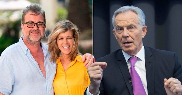 Tony Blair and Gordon Brown record messages for Kate Garraway's husband Derek as he remains in coma