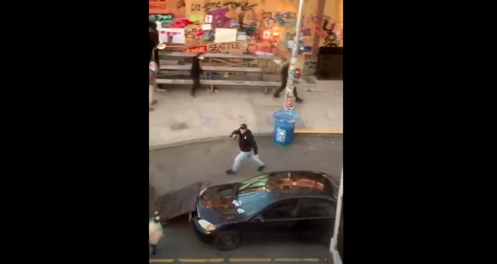 Man Drives Into Crowd and Shoots Protester in Seattle
