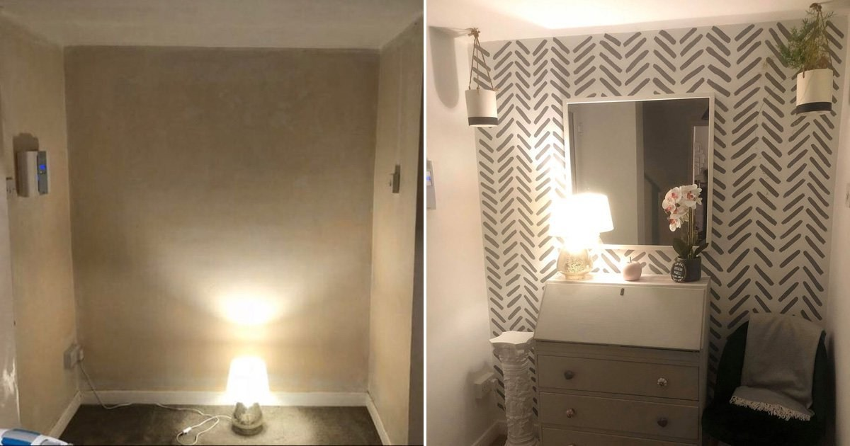 Savvy woman transforms her hallway without spending any money