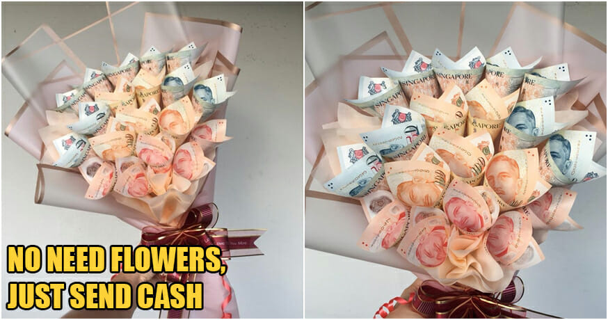 Generous Husband Gifts Wife RM3k Cash Bouquet For Wedding Anniversary & We're Jealous!