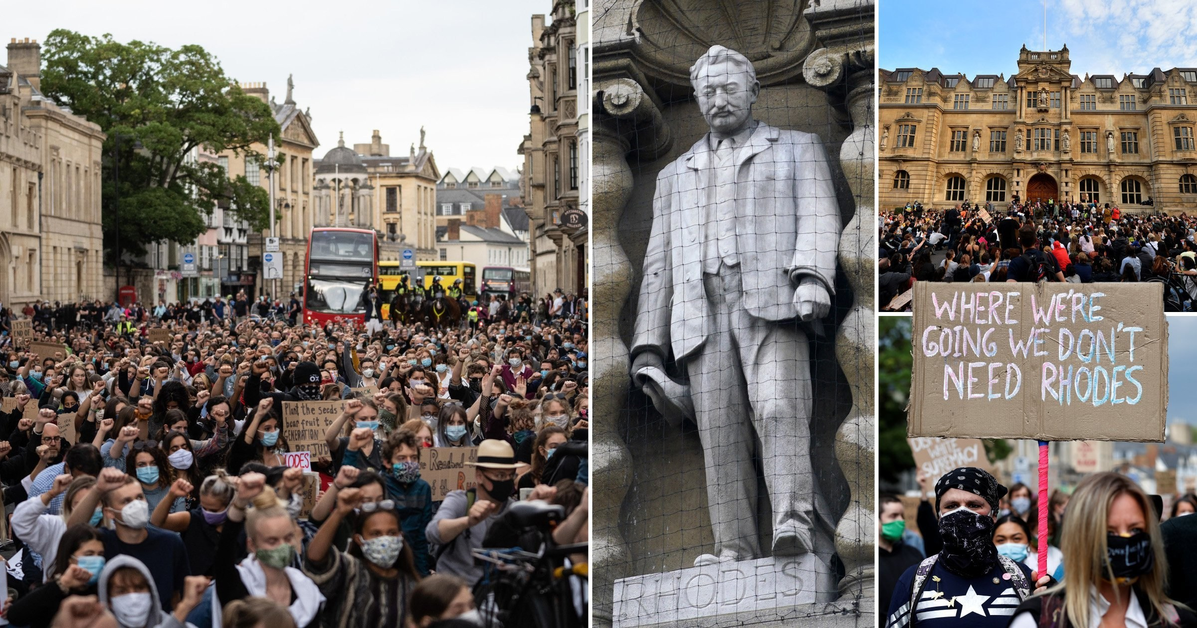 Thousands of protesters demand removal of Oxford's Cecil Rhodes statue