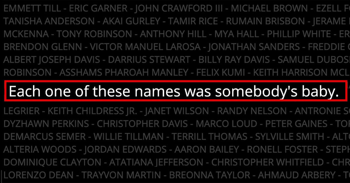Babynames.com Posts Powerful Tribute To #BlackLivesMatter