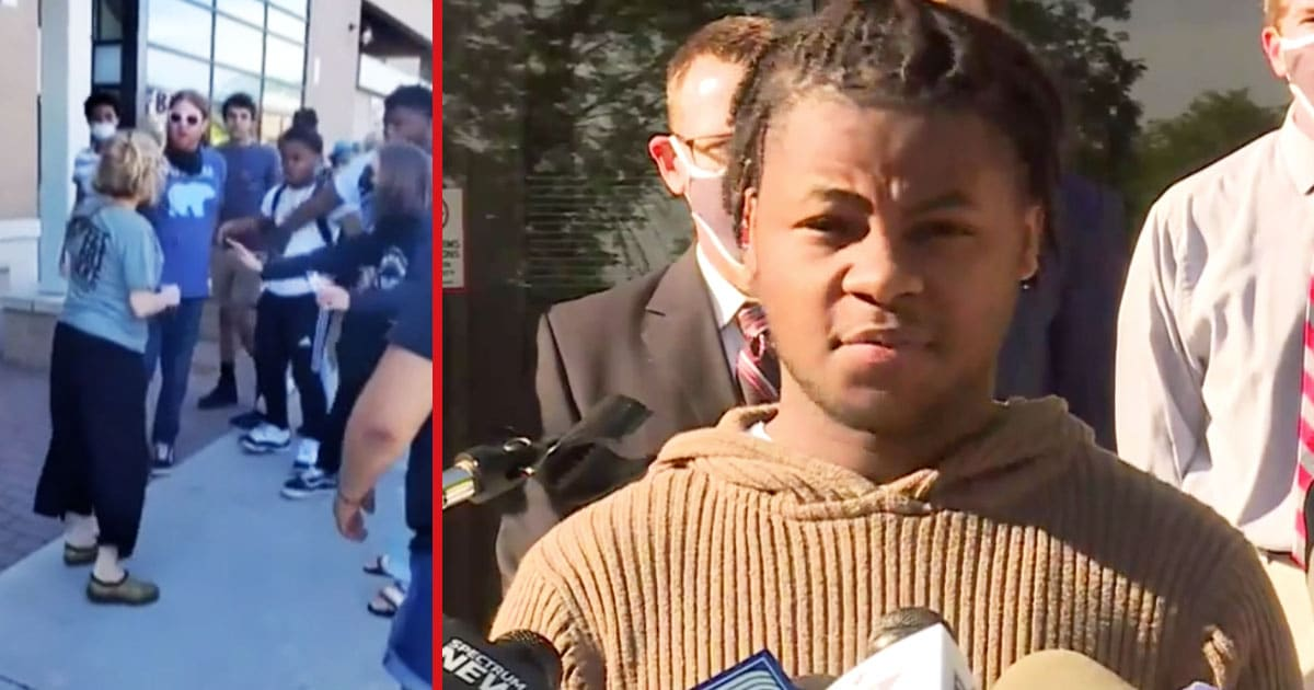 Black Teen Speaks Out After White Woman Spit In His Face During Protest