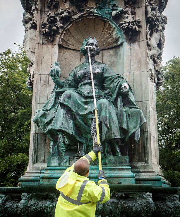 Queen Victoria statue has 'slave owner' scrawled across it in BLM protest