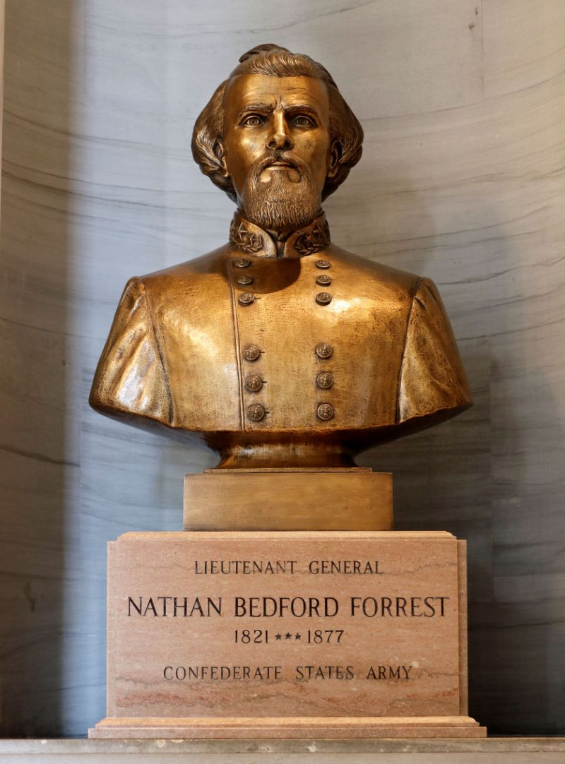 Tennessee lawmakers vote to keep kkk Leader's bust in capitol, igniting protests