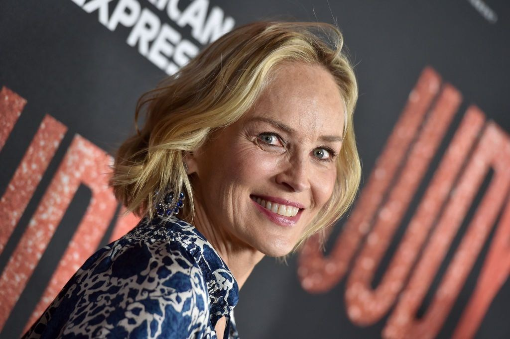 Sharon Stone was hit by lightning while doing the ironing